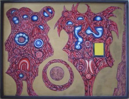Zrozeni zivota, olej na sololitu, 1972, 93,5 x 122 cm
