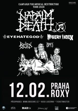 plakát napalm death 2020
